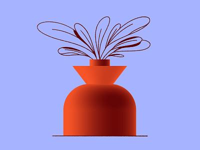 🌱🌱🌱 vase procreate plant