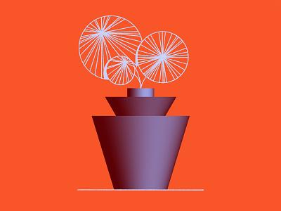 🌱🌱🌱 procreate 3d vase flowers