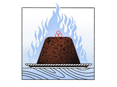🔥🔥🔥 procreate food dessert fire pudding christmas