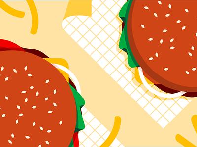 🍔👅🍔 takeaway burger