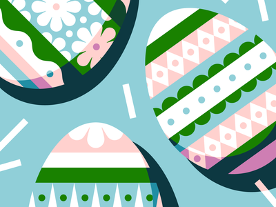 🌼🐰🌼 vector illustration easter egg