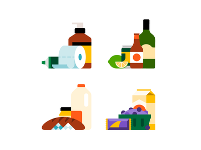 🛒 illustrator icons groceries