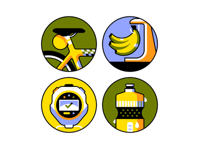 Ready to spin? editorial illustration spot illustration icon bicycle bike cycling