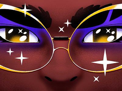 ✨✨✨ glasses character procreate
