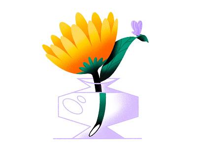🦋 flora butterfly vase flower plant