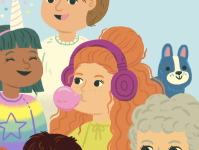 I snuck myself into a book :) people cute design drawing illustration