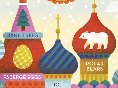 St. Basil's Cathedral Russian Illustration