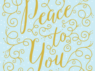 Peace to You greeting card out next Christmas