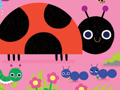 Peek Through Busy Bugs Illustration