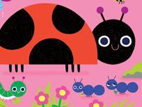 Peek Through Busy Bugs Illustration