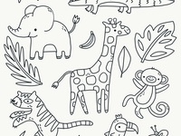 Cute Jungle Doodles