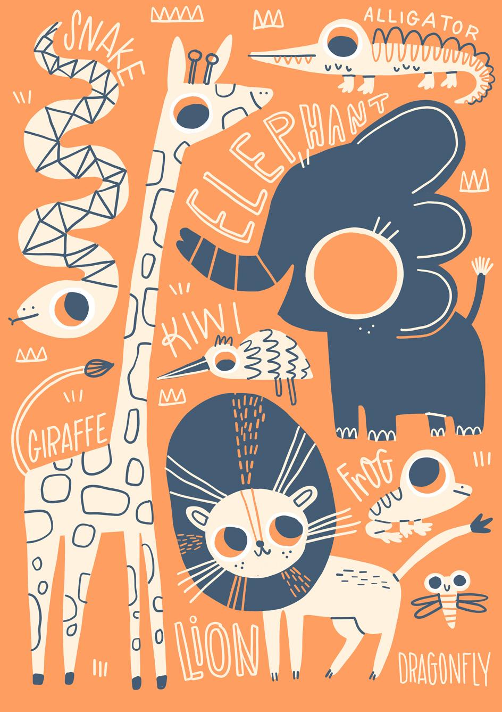 Safari cute poster 01