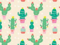 Christmas Cactus Pattern