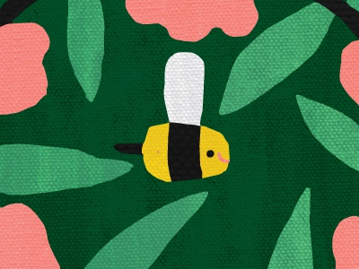 Bee Tile Illustration