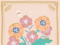 Just for you floral card 01