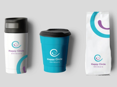 Happy Circle Childcare brand and identity brand logo branding graphic design design