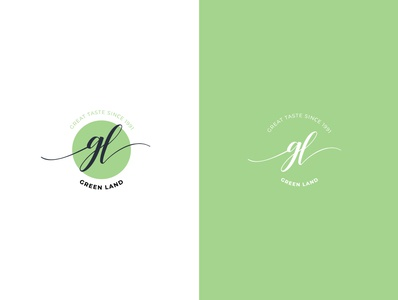Green Land Tea logo design brand branding graphic design design