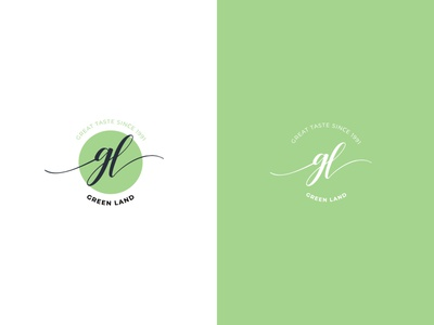 Green Land Tea logo design brand branding graphic design design