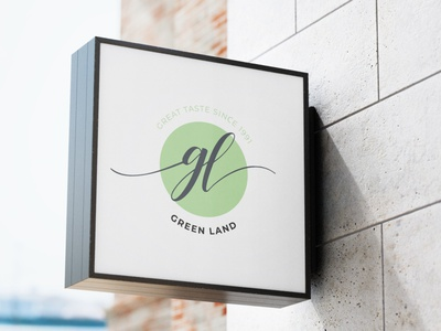 Green Land Tea logo design logo brand branding graphic design design