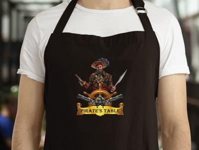 Pirate's Table Seafood Buffet illustration brand graphic design logo design brand identity design