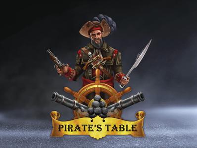Pirate's Table Seafood Buffet illustration logo brand branding graphic design design