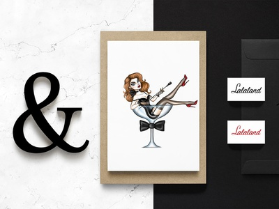 Lalaland glam branding illustration brand and identity logo design