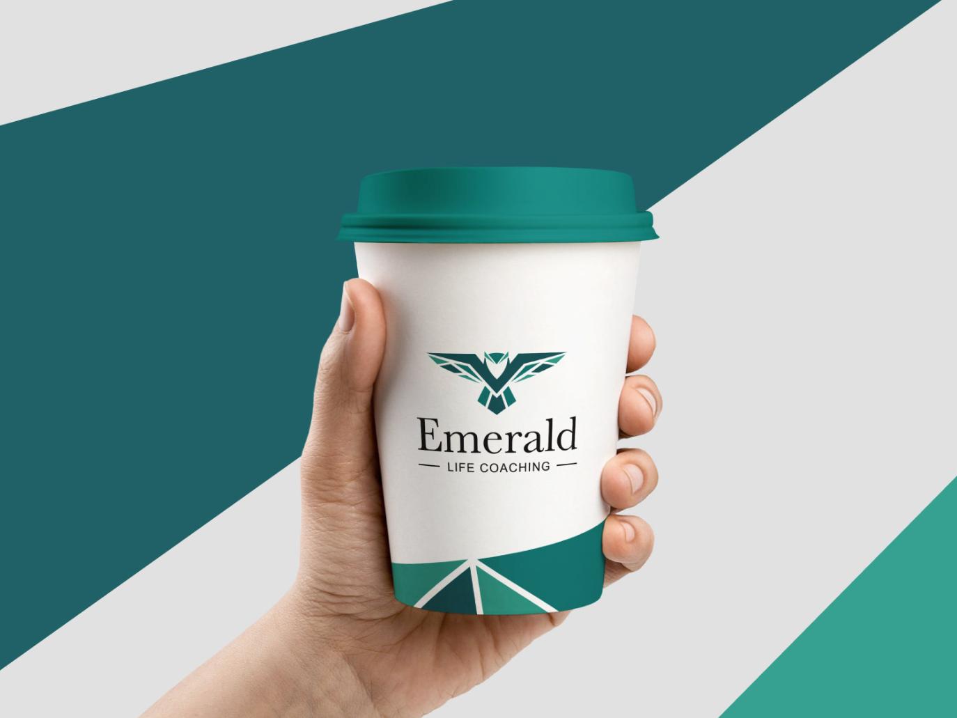Emerald Life Coaching brand identity logo brand branding design