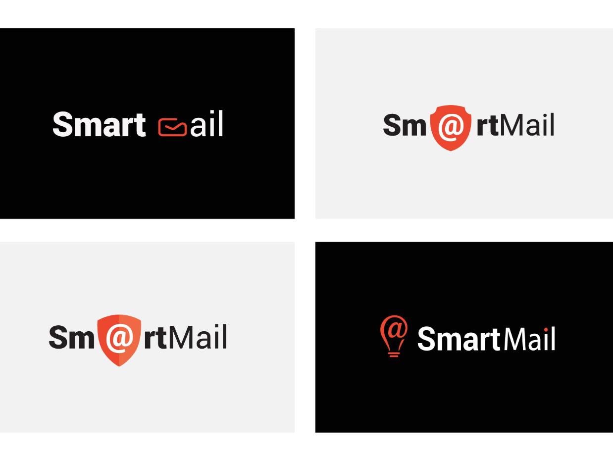 SmartMail  Logo Design Variations logo brand graphic design design