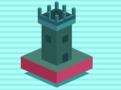 Isometric Castle isometric illustration design minimalism illustration isometric design isometric
