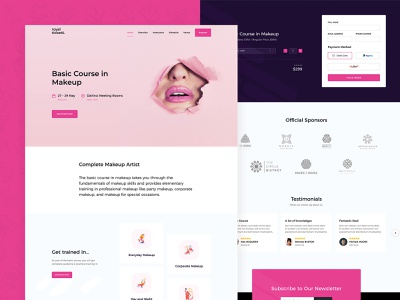 Makeup Course Landing Page responsive business ux ui inspiration stripe payfast paypal theme wordpress page landing course makeup