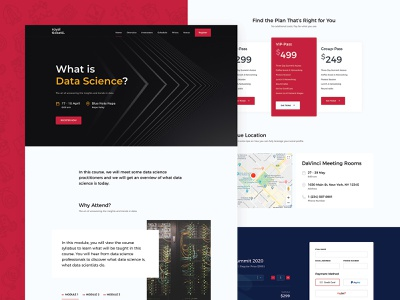 Data Science Course landing page event course wordpress tickets theme shop multivendor events directory