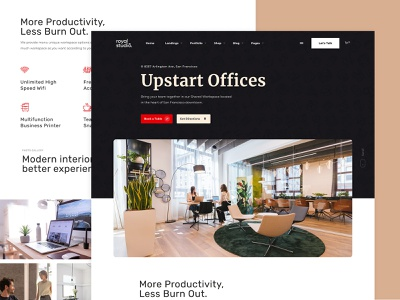 Coworking Landing Page ux ui uiux theme wordpress website page landing office space shared shared space cowrking saas business directory