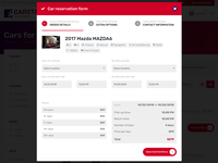 CarStar - Place Reservation Popup
