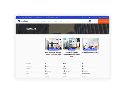 casaRoyal - Compare properties page