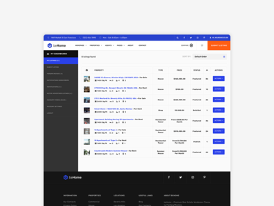 Front End Dashboard