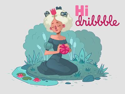 a royal hello princess frog character fairytale