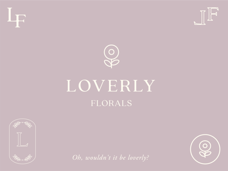 Loverly Florals - My Fair Lady Inspired Branding logo design concept branding concept design branding concept icon logo logo design graphic design design minimal typography illustrator