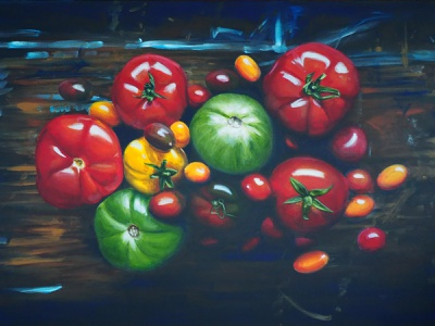 Just add olive oil and salt. illustration acrylic painting