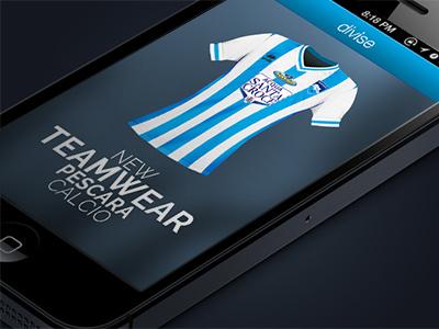 Official APP Pescara Calcio ios app pescara calcio serie a ui blur football app teamwear calcio soccer