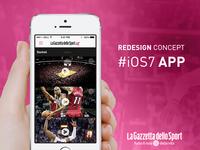 Gazzetta Mobile App, iOS7 Redesign Concept
