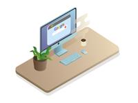 Desktop. Isometry