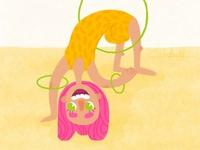 girl with hoops