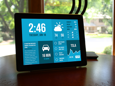 Morning for iPad - Now Available morning time to-do weather news calendar stocks editable blue