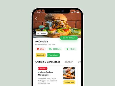 Delivery mobile app muhammad jumayev order shop eat food delivery delivery food mobile app mobile interface design ui interface design clean