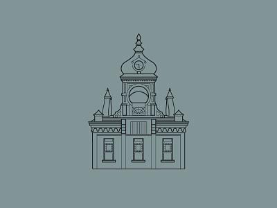 𝕧𝕚𝕔𝕥𝕠𝕣𝕚𝕒𝕟 𝕒𝕣𝕔𝕙𝕚𝕥𝕖𝕔𝕥𝕦𝕣𝕖 logo like retro building graphic blue structure illustration design classic architecture victorian