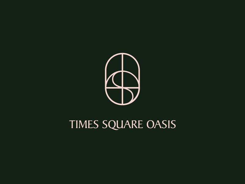 𝕠𝕒𝕤𝕚𝕤 nyc new york times square hotel bed and breakfast minimal design minimal monogram illustration color typography design art logo concept logo design design pink icon concept branding logo