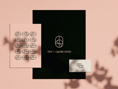 𝕠𝕒𝕤𝕚𝕤 𝕤𝕥𝕒𝕥𝕚𝕠𝕟𝕖𝕣𝕪 new york business card pink typography symbol oasis plants shadow mockup bundle stationery mockup stationery design branding materials branding pattern logo art graphic  design graphic desig stationary