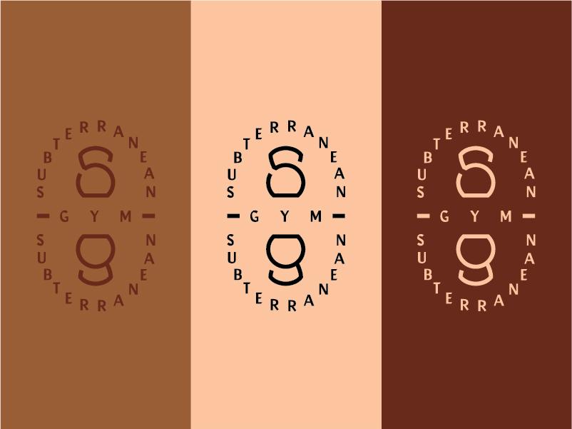 𝕤𝕦𝕓𝕥𝕖𝕣𝕣𝕒𝕟𝕖𝕒𝕟 𝕘𝕪𝕞 type logo vector brand minimal design gym flyer color options typogaphy monogram illustration athletic logo athletic sports branding branding logo brown kettlebell sports gym logo gym