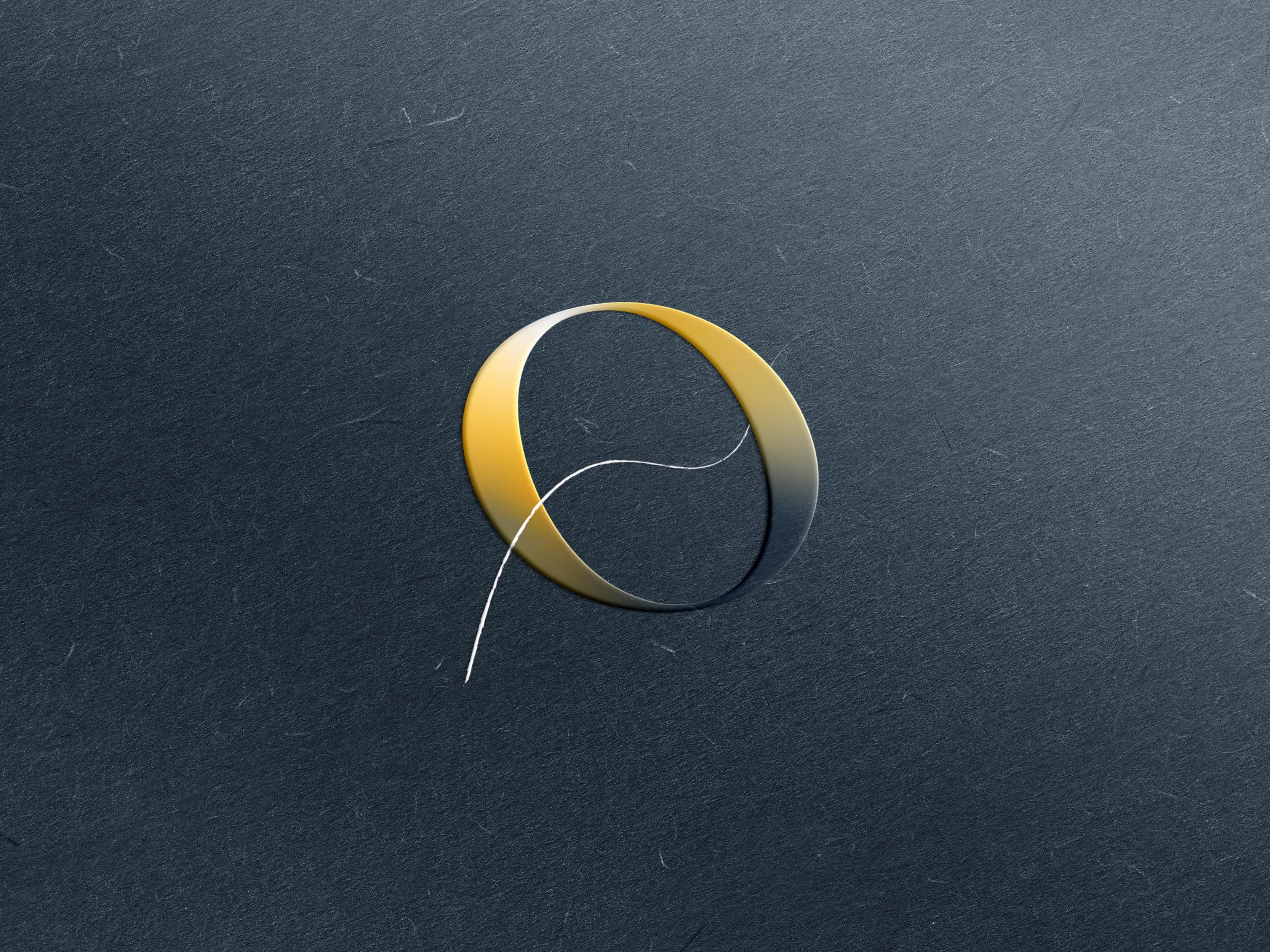 Ohare s emboss logo gold mockup dribbble