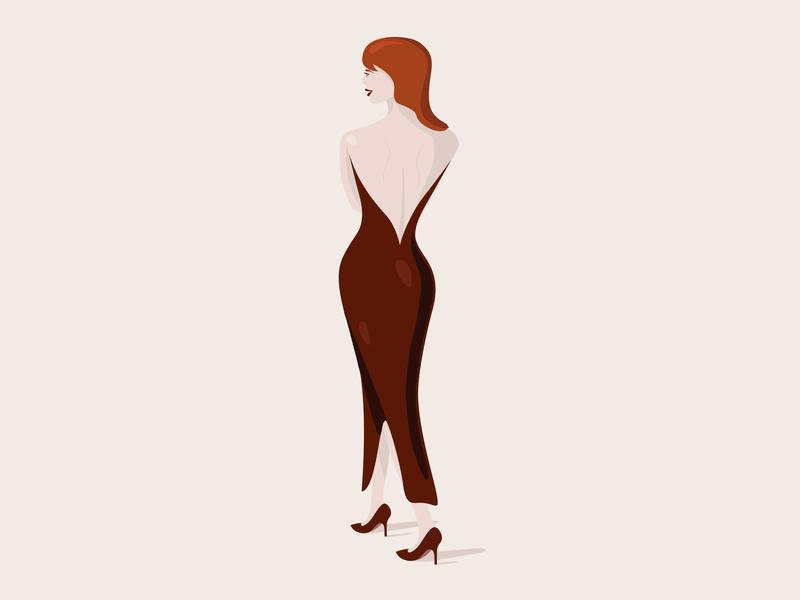 𝕣𝕖𝕕 𝕙𝕖𝕒𝕕 lady art midcentury illustrator high heels woman illustration woman girl dress character design branding fashion design fashion illustration character fashion minimal icon vector illustration design